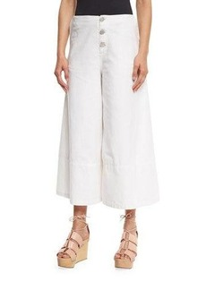 See by Chloé See by Chloe Button-Front Cotton Culottes