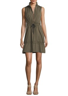 See by Chloé See by Chloe Cargo Drawstring Fit-&-Flare Mini Dress