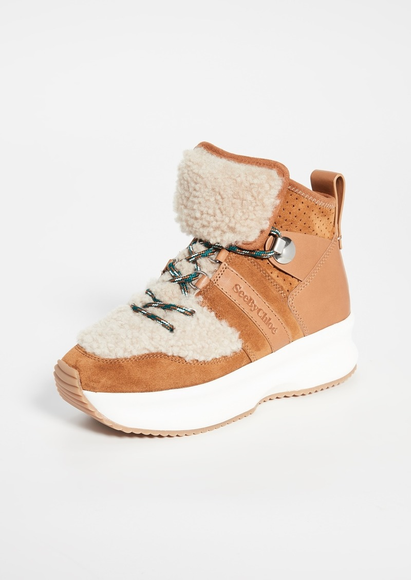See by Chloé See by Chloe Casey Shearling Sneakers