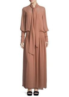 See by Chloé See by Chloe Chiffon Tie-Neck Maxi Dress