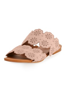 See by Chloé See by Chloe Cutout Floral Two-Band Slide Sandal