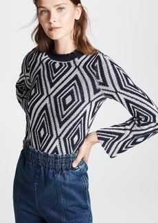 See by Chloé See by Chloe Diamond Print Sweater