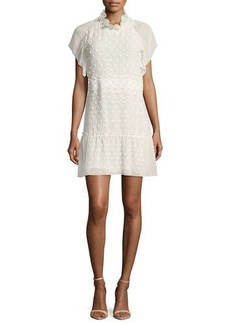 See by Chloé See by Chloe Dotted Chiffon Lace Mini Dress