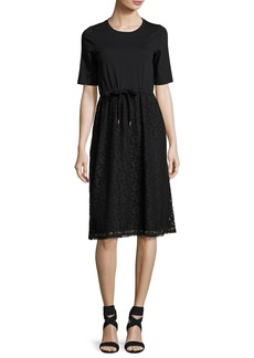 See by Chloé See by Chloe Drawstring Lace-Skirt T-Shirt Dress