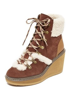 See by Chloé See by Chloe Eileen Wedge Shearling Booties