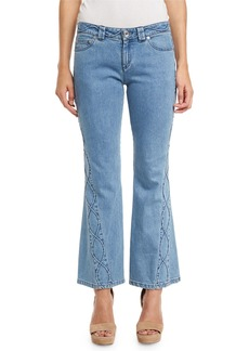 See by Chloé See by Chloe Embroidered Cropped Flare Jeans