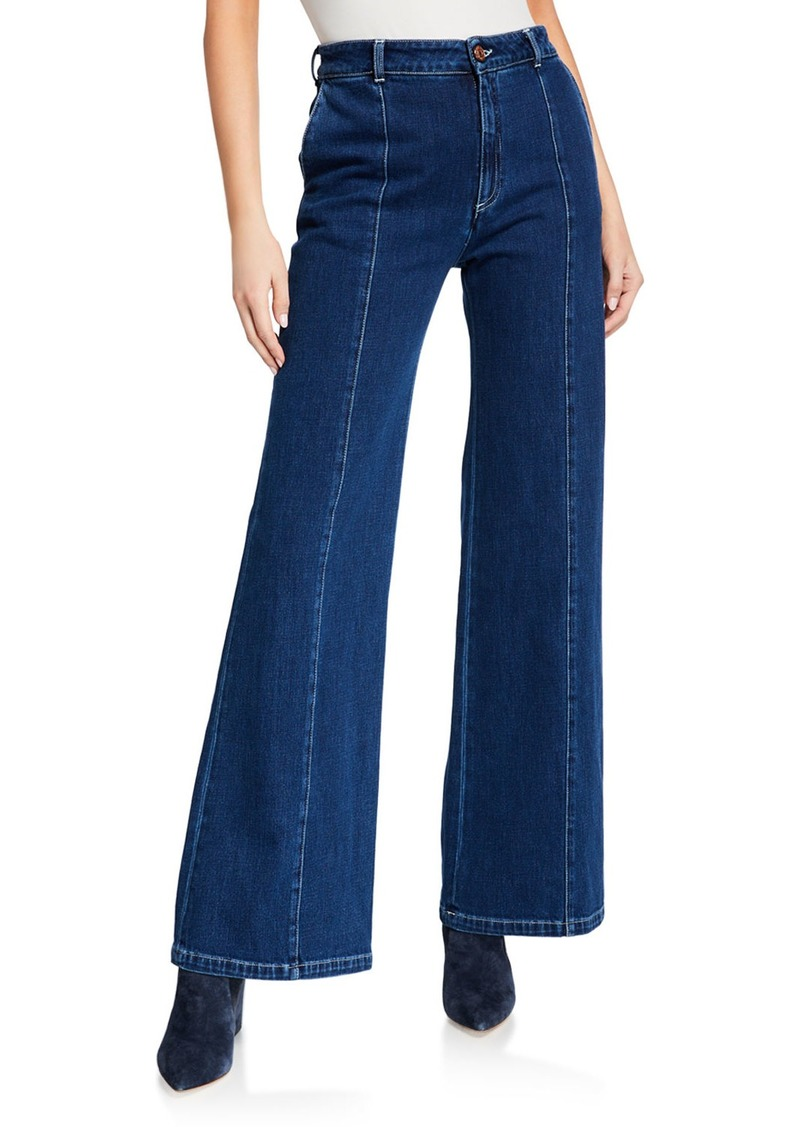 See by Chloé See by Chloe Flare-Leg Denim Pants