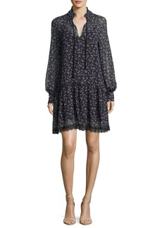See by Chloé See by Chloe Floral-Printed Chiffon Babydoll Dress