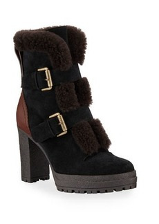 See by Chloé See by Chloe Fur-Lined Double Buckle Boots
