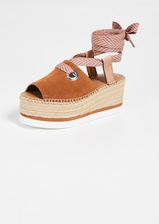 See by Chloé See by Chloe Glyn Amber Lace Up Espadrilles