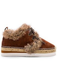 See by Chloé See By Chloe Glyn Rabbit Fur Sneaker