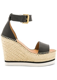 See by Chloé See By Chloe Glyn Wedge Sandal in Black. - size 36 (also in 37,38,39,40)