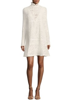 See by Chloé See by Chloe High-Neck Crochet A-line Dress