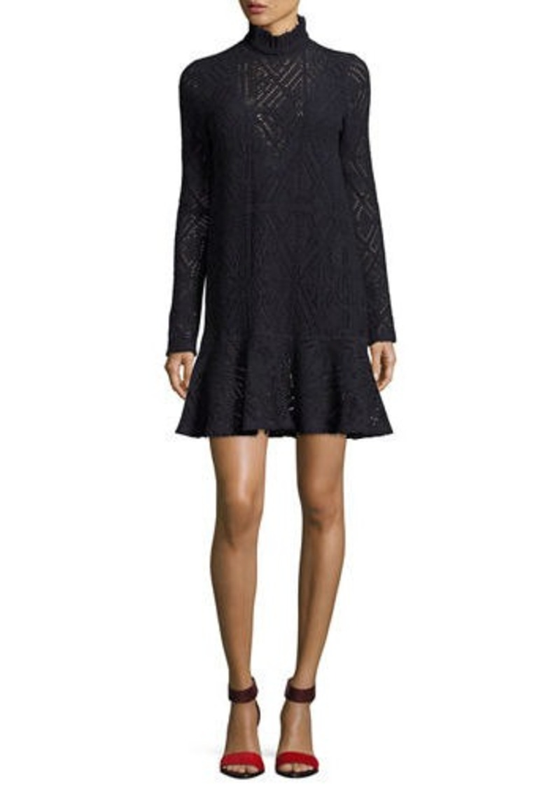 See By Chloe High Neck Crochet A Line Dress