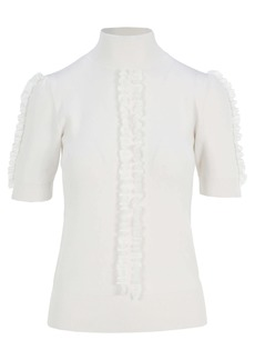See by Chloé See By Chloe High Neck Sweater With Lace Detail