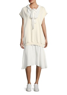 See by Chloé See by Chloe Hoodie Combo Dress