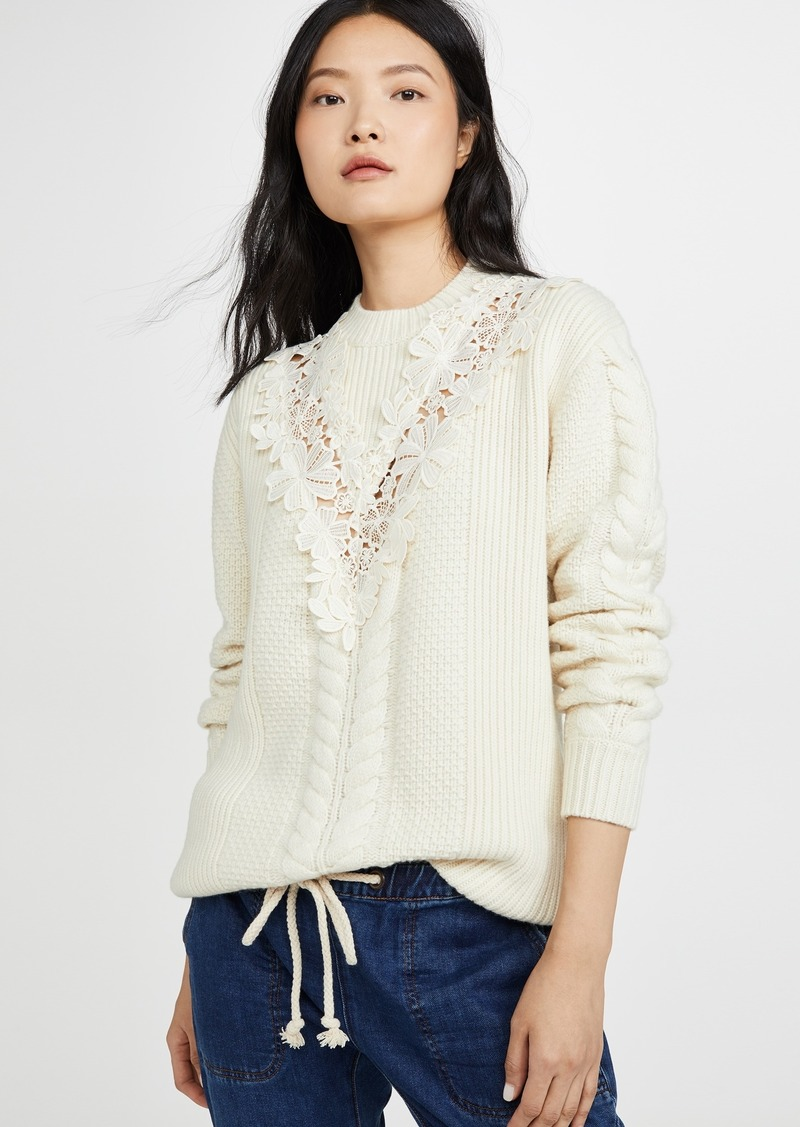 See by Chloé See by Chloe Lace Detail Pullover