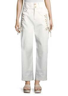 See by Chloe Lace-Up Trousers