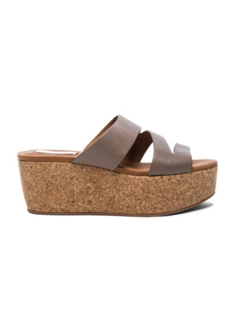 See by Chloé See By Chloe Leather Dania Wedge Sandals
