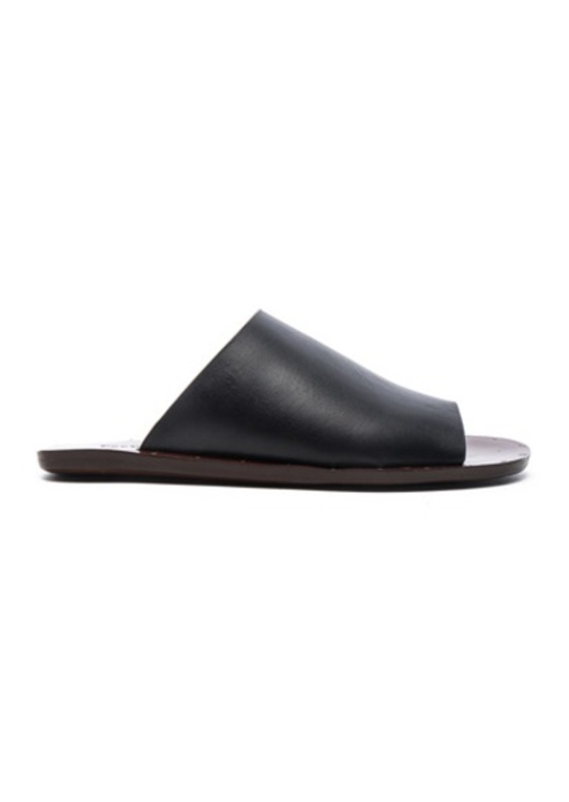 See by Chloé See By Chloe Leather Flat Slide Sandals