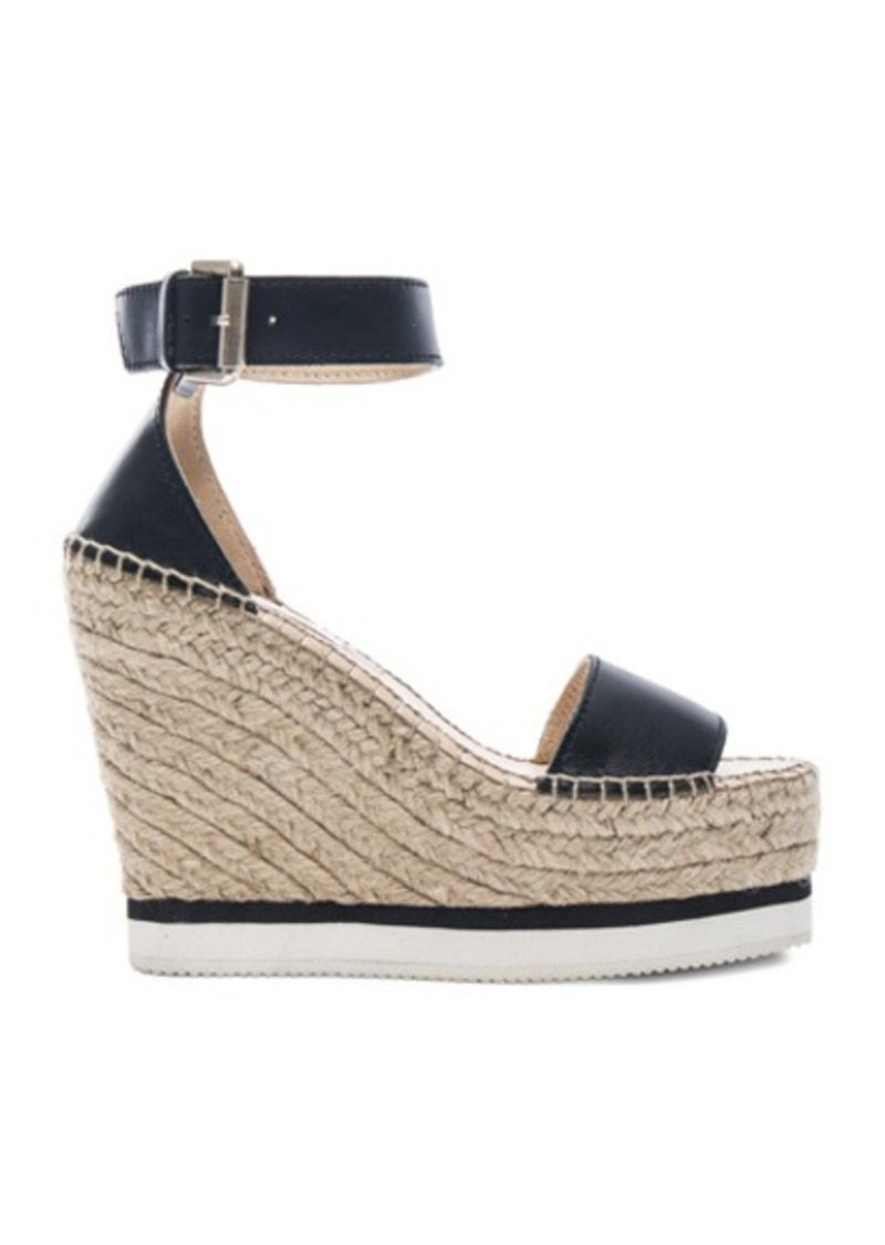 See by Chloé See By Chloe Leather Glyn Espadrille Wedges