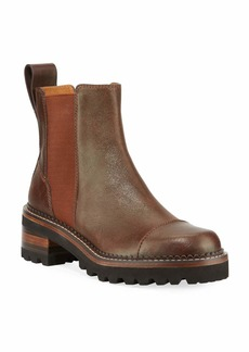 See by Chloé See by Chloe Leather Lug-Sole Chelsea Boots