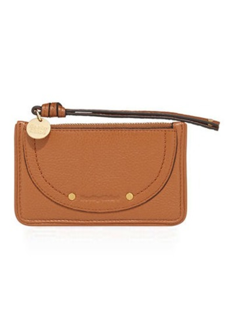 see by chlo see by chloe leather zip card holder - Chloe Card Holder