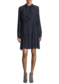See by Chloé See by Chloe Long-Sleeve Tie-Neck Dress