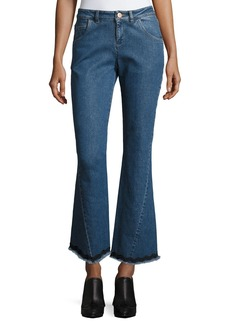 See by Chloe Mid-Rise Flared Raw-Hem Jeans