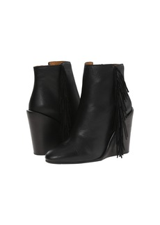See by Chloé See by Chloe Pebbled Leather Wedge Bootie with A Fringe