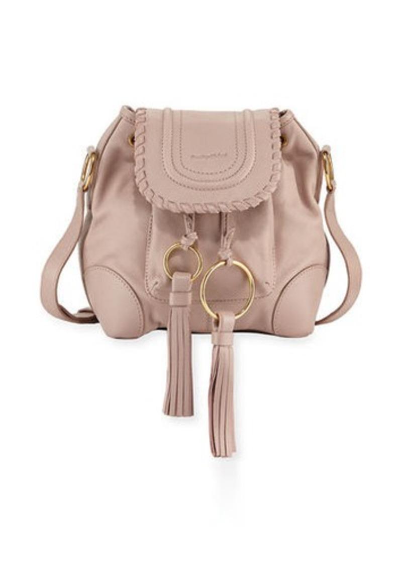 See By Chloé Chloe Polly Leather Flap Bucket Bag
