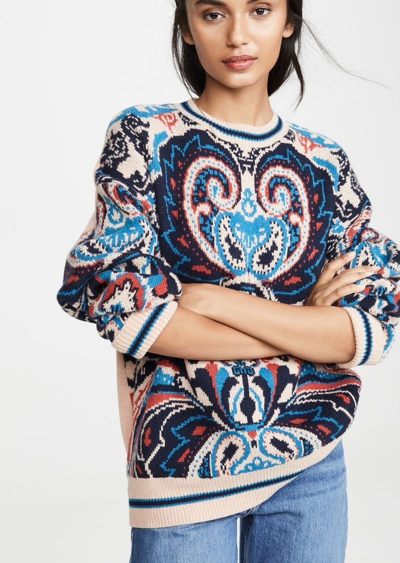 See by Chloé See by Chloe Printed Paisley Pullover