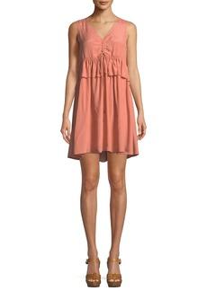 See by Chloé See by Chloe Self-Tie Sleeveless Mini Dress