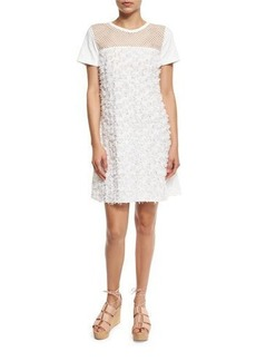 See by Chloé See by Chloe Short-Sleeve Floral Jersey Shift Dress