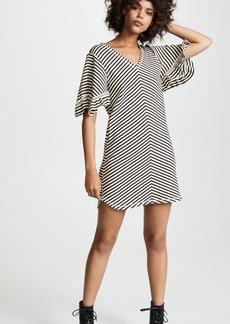 See by Chloé See by Chloe Stripe Ruffle Sleeve Dress