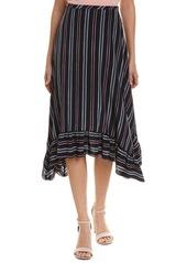 See by Chloé See By Chloe Striped Silk A-Line Skirt