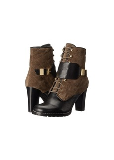 See by Chloé See by Chloe Suede + Flat Leather Lace Up Bootie