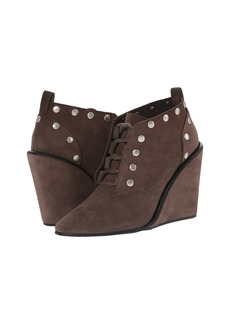 See by Chloe Suede Lace Up Wedge Bootie with Studs