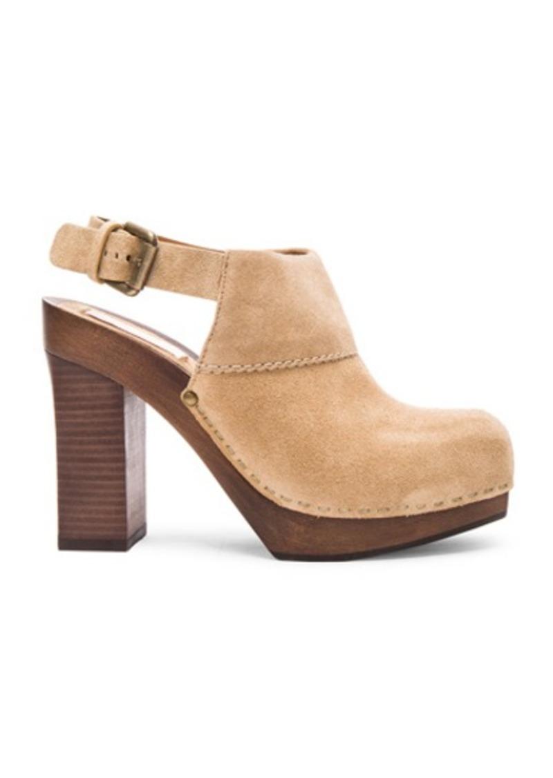See by Chloé See By Chloe Suede Slingback Platform Heels