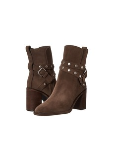 See by Chloé See by Chloe Suede Wrap Heel Bootie with Studs