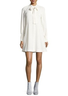 See by Chloé See by Chloe Tie-Neck Long-Sleeves A-Line Dress