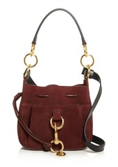 See by Chloé See By Chloe Tony Small Leather & Suede Bucket Bag