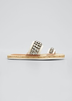 See by Chloé See by Chloe Embellished Two-Band Espadrille Slide Sandals