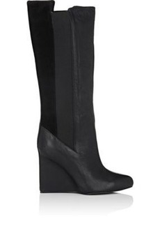 See by Chloe Women's Leather & Suede Wedge Knee Boots