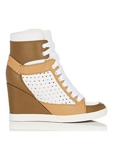See by Chloe Women's Leather Wedge Sneakers