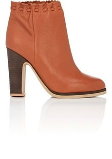 See by Chloé See by Chloe Women's Scalloped-Detail Leather Ankle Boots