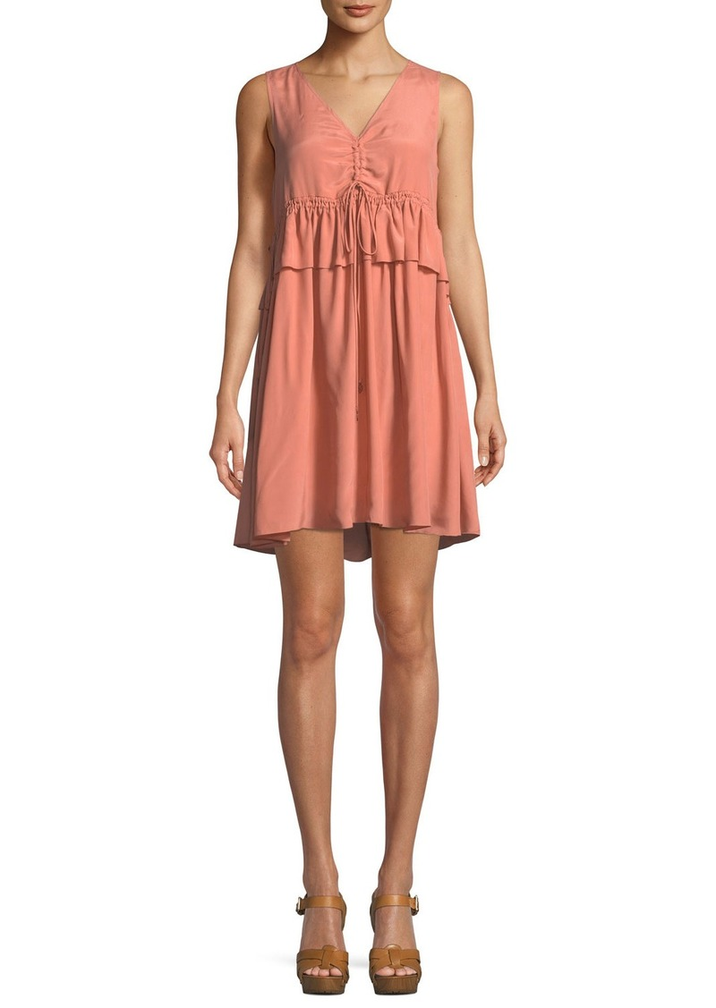 See by Chloé Self-Tie Sleeveless Mini Dress