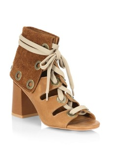 See by Chloé Selma Leather Lace-Up Booties