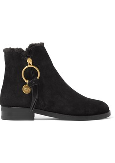 See by Chloé Shearling-lined Suede Ankle Boots