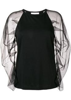 See by Chloé sheer halter blouse